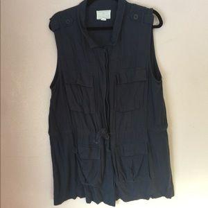 CASLON // Navy Blue Cargo Vest